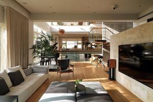 90平米集不同风格的精美时尚客厅装修效果图