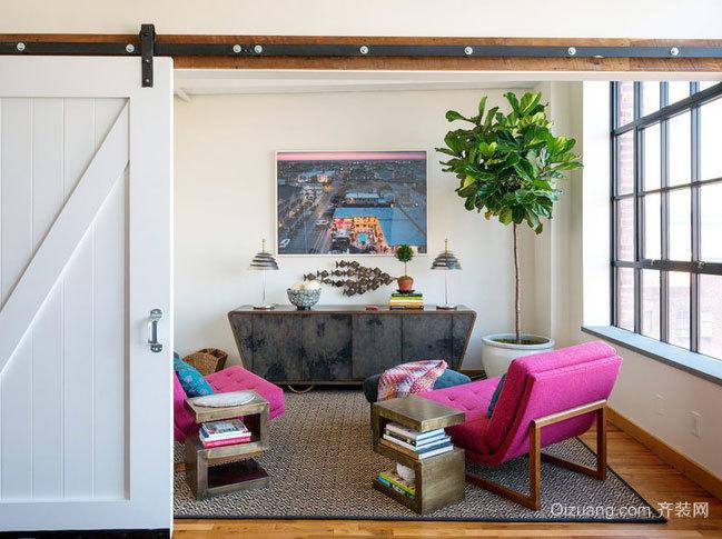 118平米复古风格的三居室家居装修效果图鉴赏