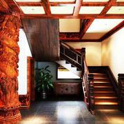 暖色调楼梯装修大全