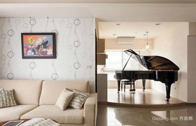 100平米钢琴发烧友喜爱的灵动的充满音乐元素的房屋装修设计