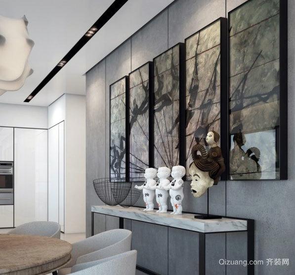 100平米可视化现代个性两居室房屋装修效果图