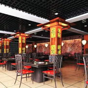 火锅店餐桌效果图