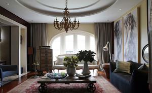 各有特色的混搭风格客厅吊顶装修效果图