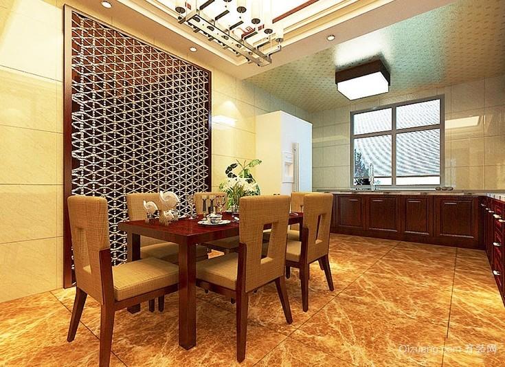 尽显大气的新中式风格大户型餐厅装修效果图