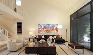 新式家居:110平现代简约跃层装修效果图大全