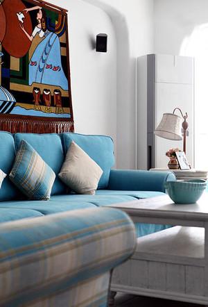 蓝色地中海风格软装家居设计装修效果图