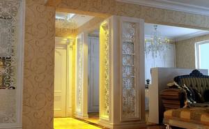 金碧辉煌的欧式古典风格镂空雕花隔断效果图鉴赏