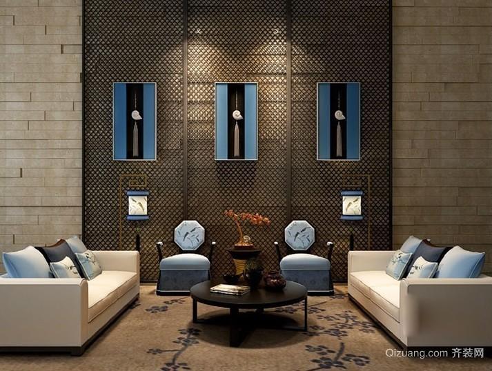 极具创意新中式客厅沙发装修效果图