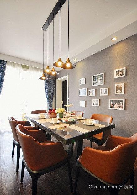 120平米三居室绿苑美式复古全套房屋装修效果图