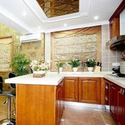 浅色调厨房灯饰图片