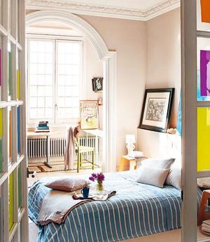 110平米五彩缤纷的三居室软装家居设计装修效果图