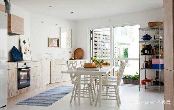 烹饪出来的幸福感:北欧清新开放式厨房效果图