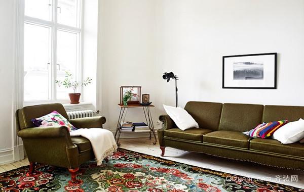 宅在家的幸福:60平文艺简约的阳光房家居装修效果图