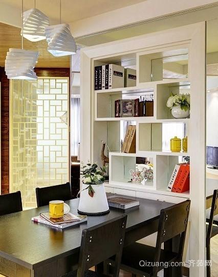 120平米家庭客厅隔断收纳两不误装修设计效果图