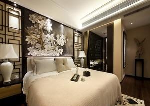 淡色调卧室背景墙