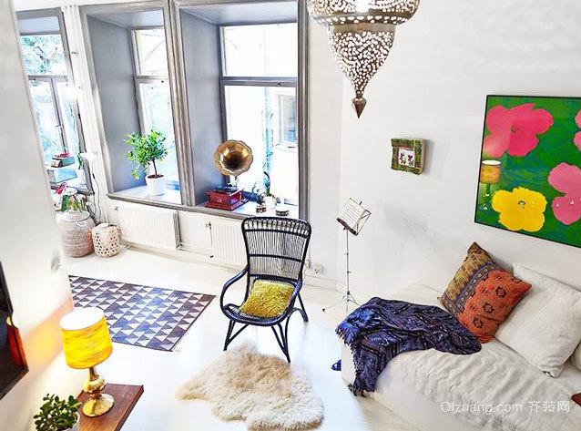 50平米奇葩小公寓式住宅家居装修效果图鉴赏