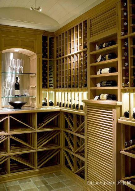 精致、贵族味儿十足的家装红酒柜效果图鉴赏
