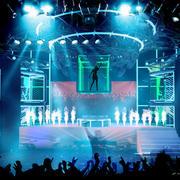 冷色调舞台背景图片