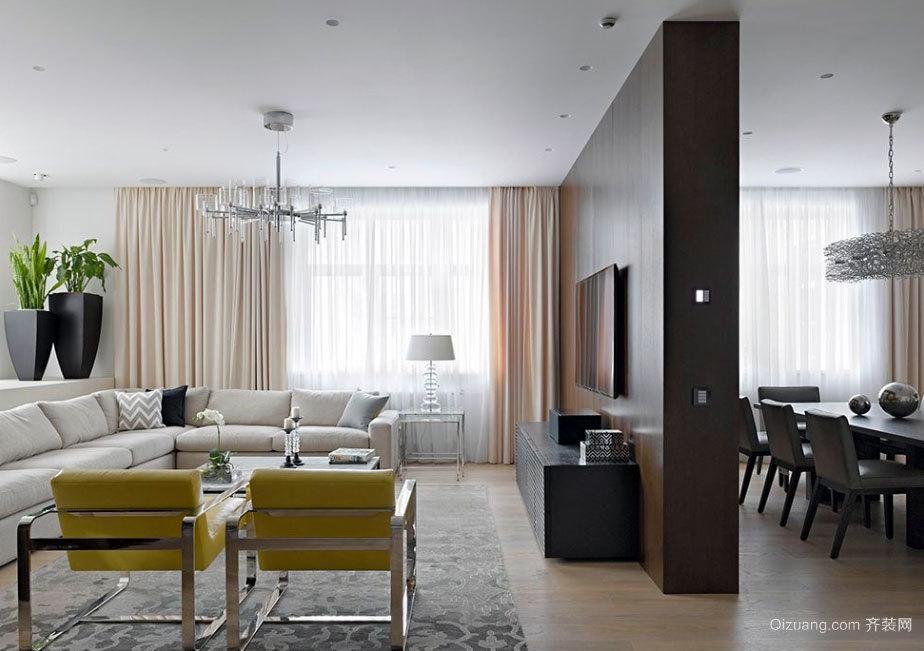 180平米大气赏心悦目的五口之家公寓装修效果图
