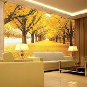 金黄色调背景墙效果图