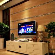 暖色调电视柜设计