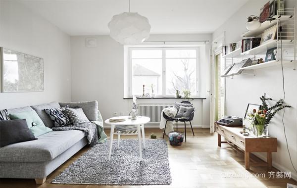 舒适迷人瑞士风:60平公寓式住宅精装效果图
