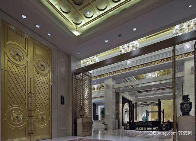 豪华奢侈的酒店大堂装修效果图