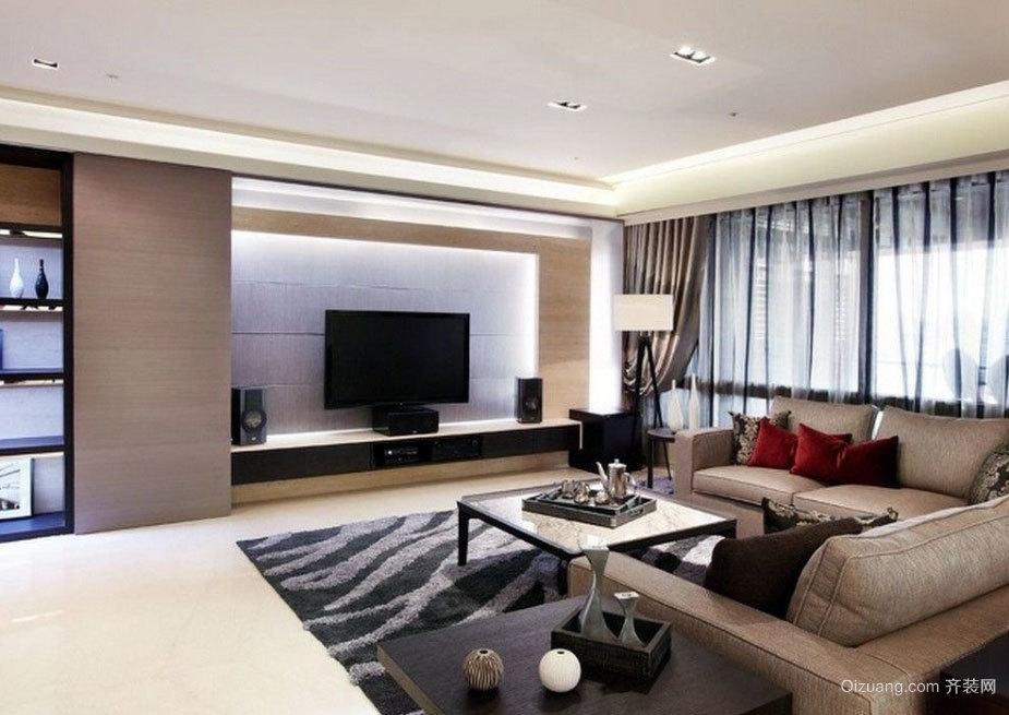 150平米闲静的简约化两室一厅装修效果图