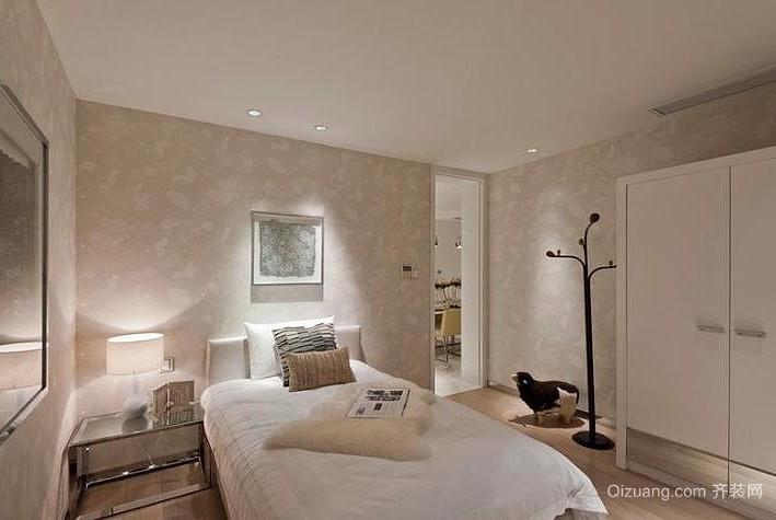 2015可以展现自我品味的卧室金属床头柜装修效果图