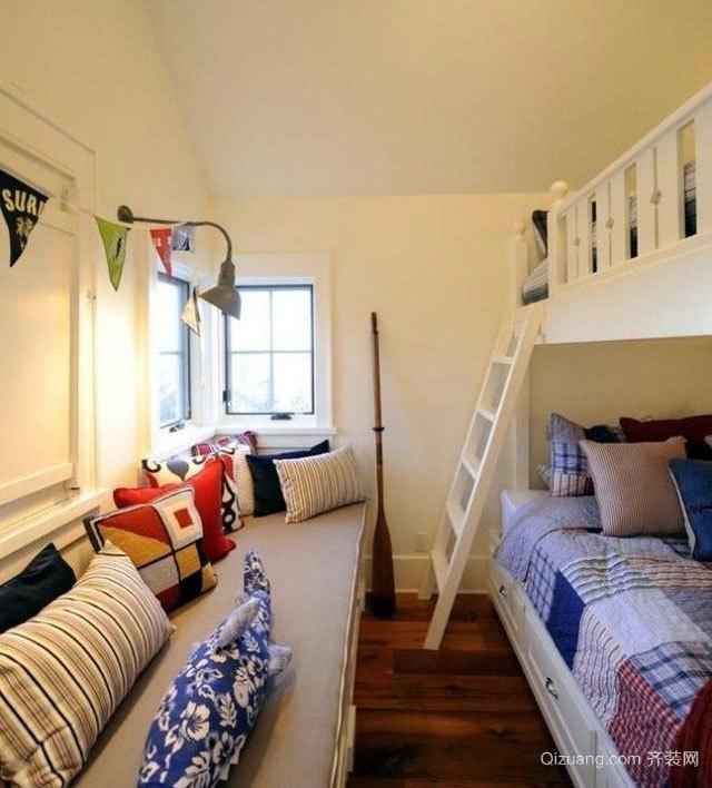 30平米漂亮的双人间儿童房装修效果图