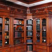 古典韵味书柜装修图片