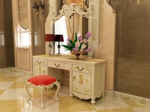 典雅浪漫的法式风格卧室梳妆台装修效果图鉴赏