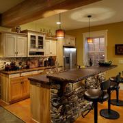 自然风格厨房吧台装修