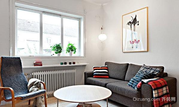 50小户型开放式双人居公寓装修效果图