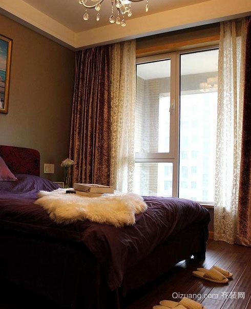意境闲适的独特精致卧室窗帘装修效果图大全