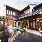 自然色调别墅庭院图片