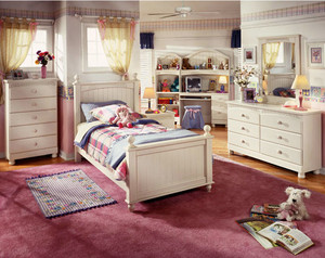 犹如仙境的都市儿童房实木儿童床装修效果图大全