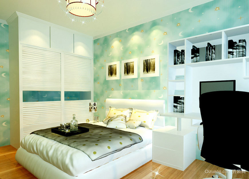 气氛温馨适合居住的卧室背景墙装修效果图鉴赏