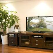深色调电视柜设计