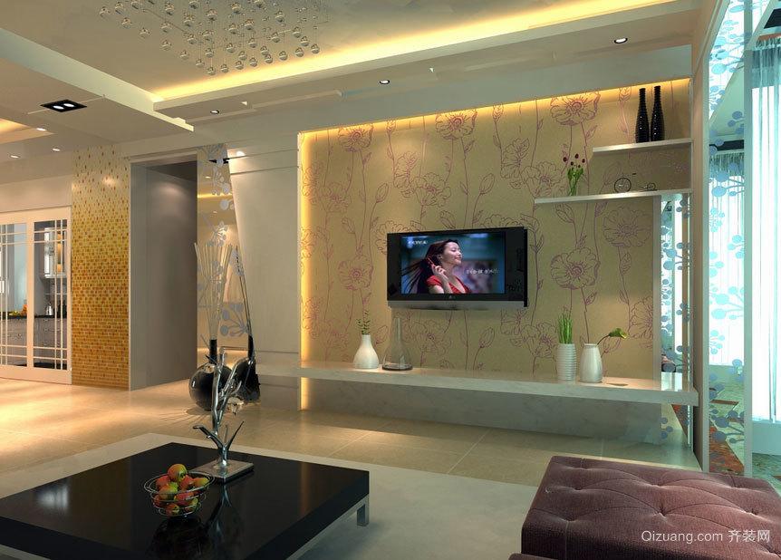 经济美观实用的欧式客厅电视背景墙效果图大全