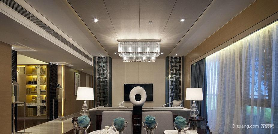 120平米现代与传统碰撞意蕴内敛的公寓装修效果图