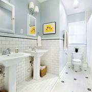 简朴型卫生间墙面设计
