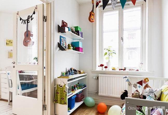 80平米北欧风格光线明亮的色彩绚丽的日光公寓装修效果图