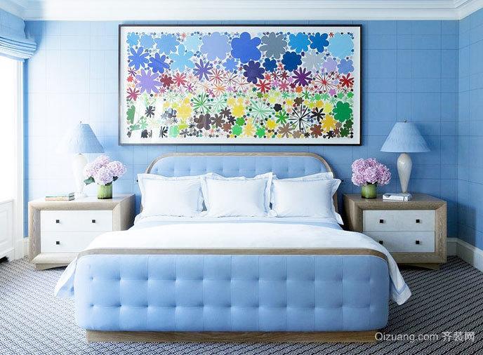 田园清新女生单身公寓花卉装饰画装修效果图