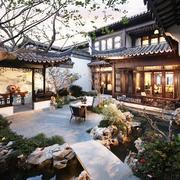 别墅庭院凉亭图片