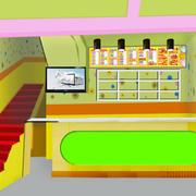 饮品店楼梯效果图