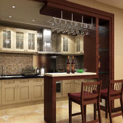 时尚风格厨房吧台装修