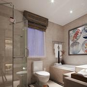 淡色调卫生间墙面设计