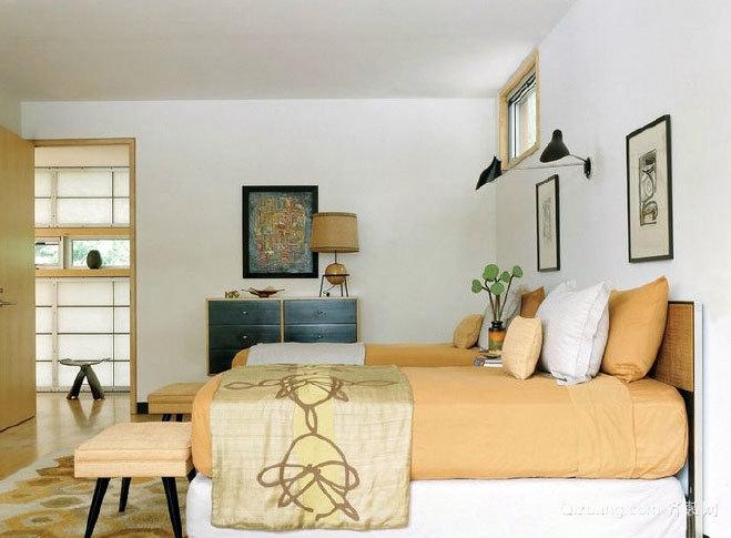 两居室卧室床头创意装修效果图