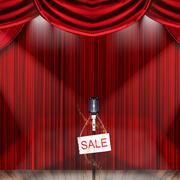 红色调舞台背景图片